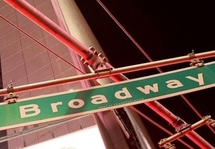 A Broadway street sign in New York City