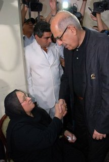 Mohamed ElBaradei visited Khaled Said's family to offer condolences.
