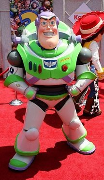 Buzz Lightyear arrives at the premiere of Disney/Pixar's 'Toy Story 3' in Hollywood.