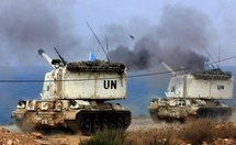 Artillery from the French battalion of the United Nations Interim Force in Lebanon (UNIFIL) take part in an exercise.