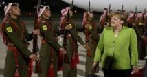 Merkel addresses students at start of 2-day trip to Jordan, Lebanon