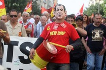 French paradox: few union members but many protests