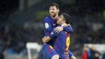Messi shines as Barca crush minnows Huesca, Valencia derby drawn
