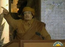 Kadhafi says West after Libya's oil as rebels pounded