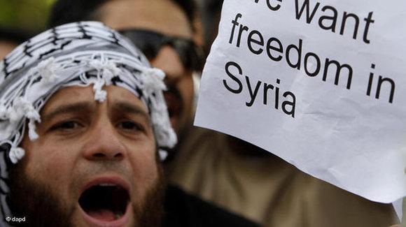 Syria 'street' slams, US applauds opposition meet