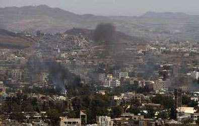 Fighting in Yemen capital raises civil war spectre
