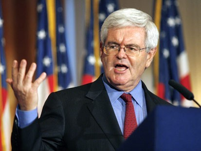 Gingrich under fire for 'invented' Palestinians jab