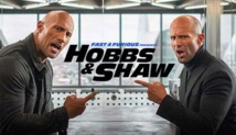 'Hobbs & Shaw' maintains top spot at the weekend box office