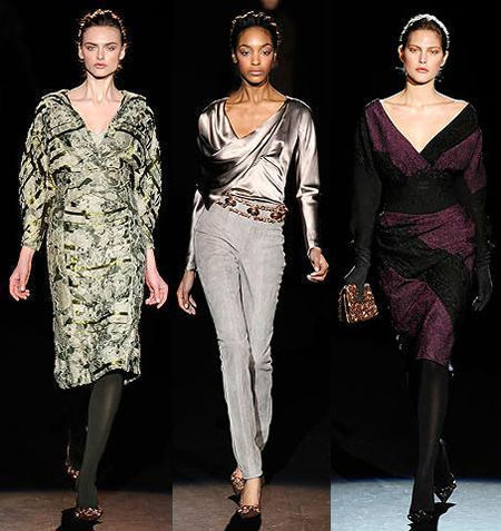 Glossy leather stands out at NY fashion week
