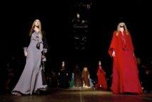 Slimane brings rock 'n' roll to YSL at Paris fashion