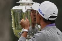 Collin Morikawa drives into the history books with PGA win