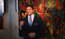 Action star Stallone shows off artistic side in Russia