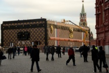 Giant Louis Vuitton trunk ordered off Red Square