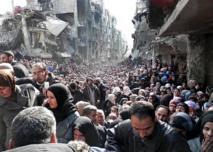 Syria's besieged Yarmuk gets UN aid after two-week halt