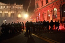 Riot police clash with protesters at La Scala opening night
