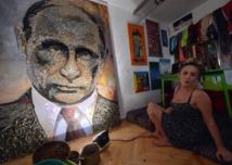 'Face of War': Ukraine artist creates Putin portrait with bullet shells