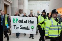 Anti-oil protesters flash mob British Museum