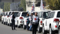 Aid enters besieged Syrian towns in 'test' for warring sides
