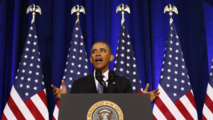 Obama 'proud' of decision not to bomb Syrian regime