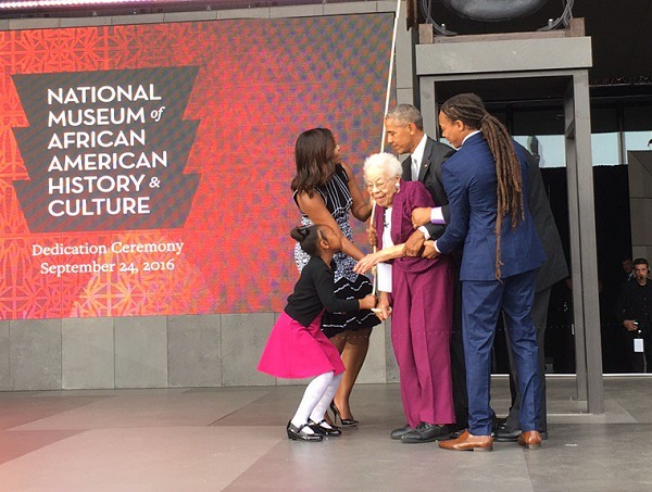 Obama opens new African American Museum amid national racial strife