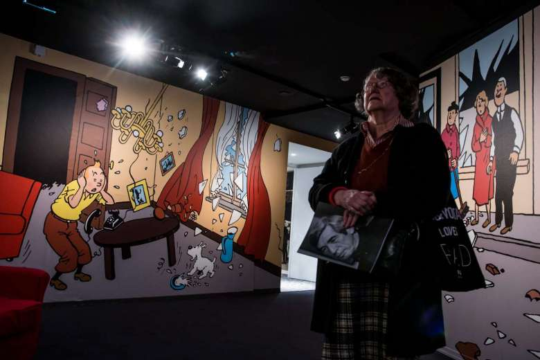 Blistering barnacles! Exhibition shows dark side of Tintin creator
