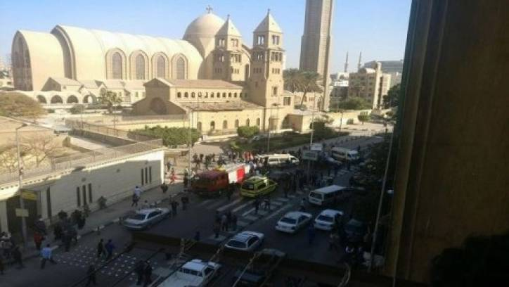 Bomb attack kills at least 25 near Cairo Coptic cathedral