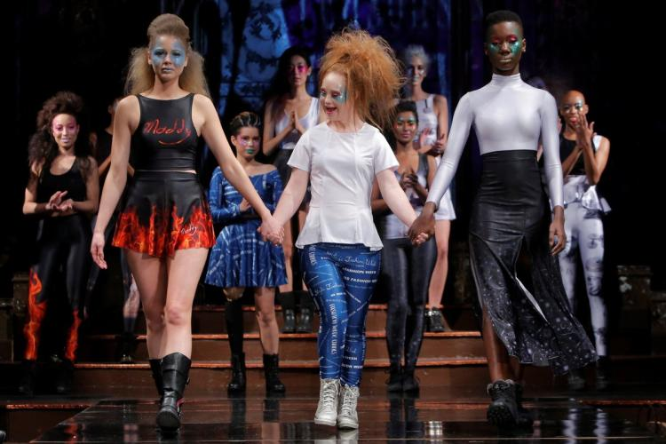 Down's Syndrome model debuts label at NY fashion week