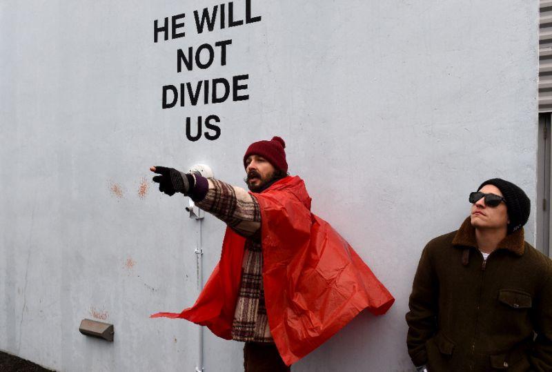 Shia LaBeouf anti-Trump art project shut down after threats