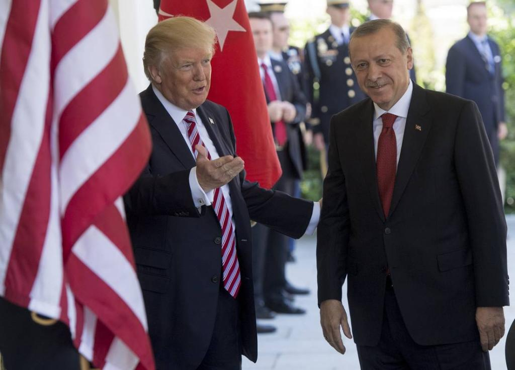 Trump and Erdogan vow friendship despite anger at US arming Kurds