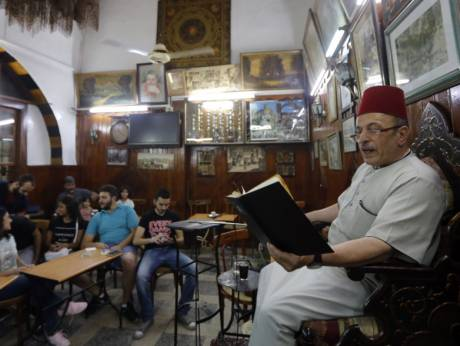 Gripping tales lure war-weary Syrians to Damascus cafe