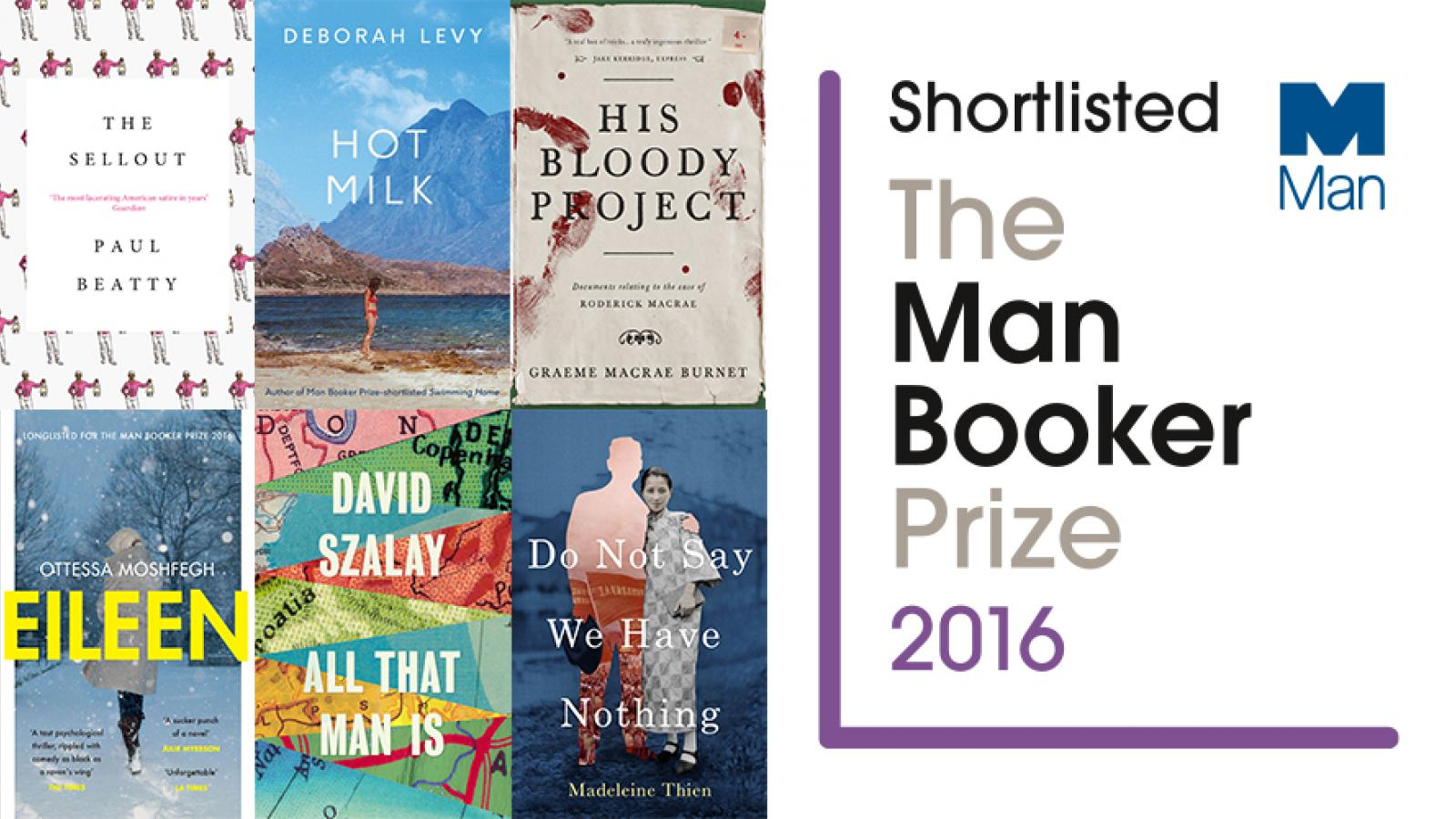 US writer favourite as six novels shortlisted for Man Booker Prize
