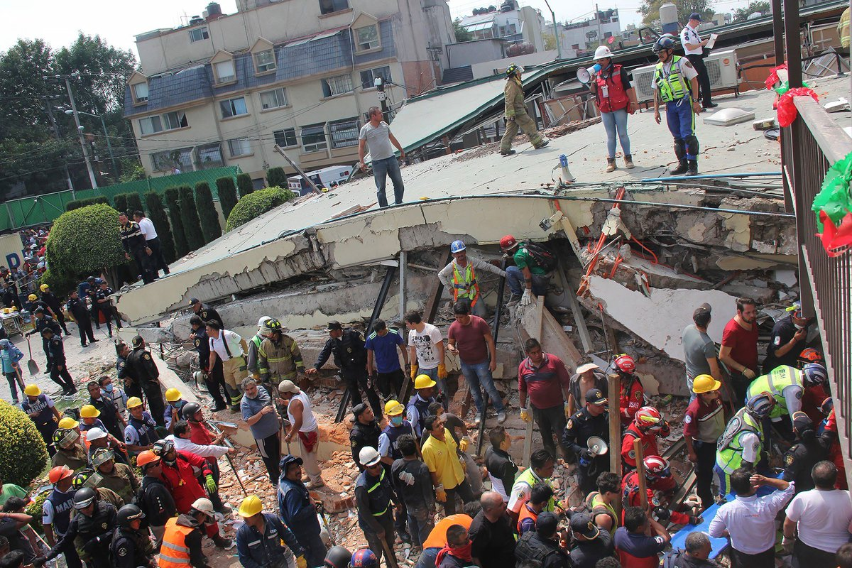 Desperate dig for survivors in Mexico after devastating earthquake