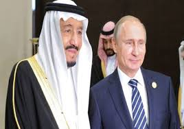 Saudi king slams Iran on historic visit to Russia