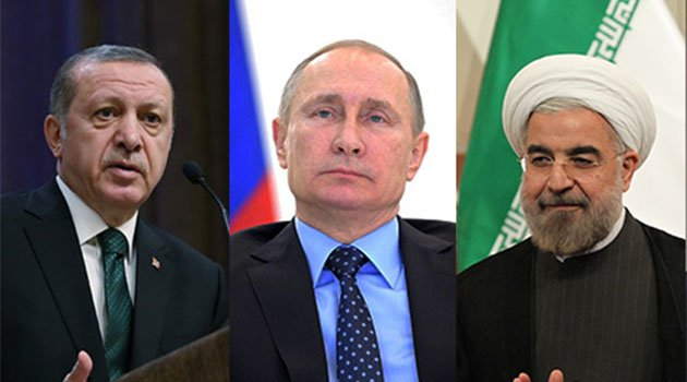 Putin hosts Erdogan and Rowhani to discuss Syria