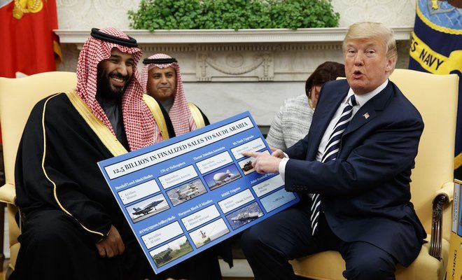 Trump, Saudi crown prince discuss regional conflicts, royal visit