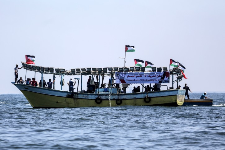 Israeli navy stops activist boat from breaking Gaza blockade