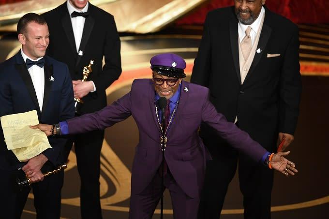 Spike Lee wins his first competitive Oscar for 'BlacKkKlansman'