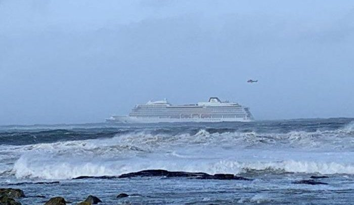 Helicopter rescues halted as Norway cruise ship towed to port