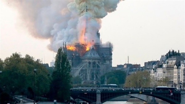 Catastrophic fire ravages Notre Dame Cathedral in Paris