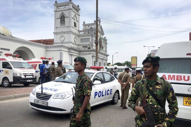 More than 100 people killed in multiple explosions in Sri Lanka