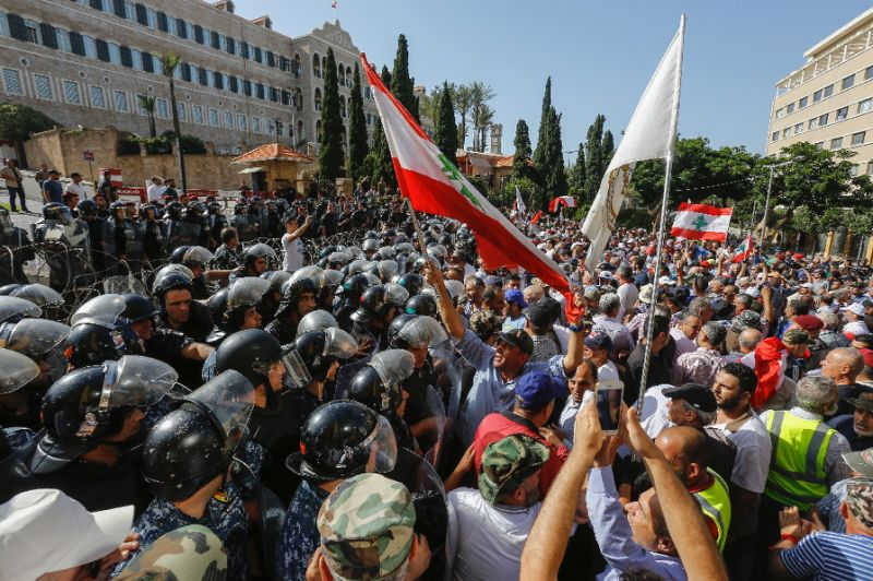 Lebanese police disperse anti-austerity protesters in Beirut