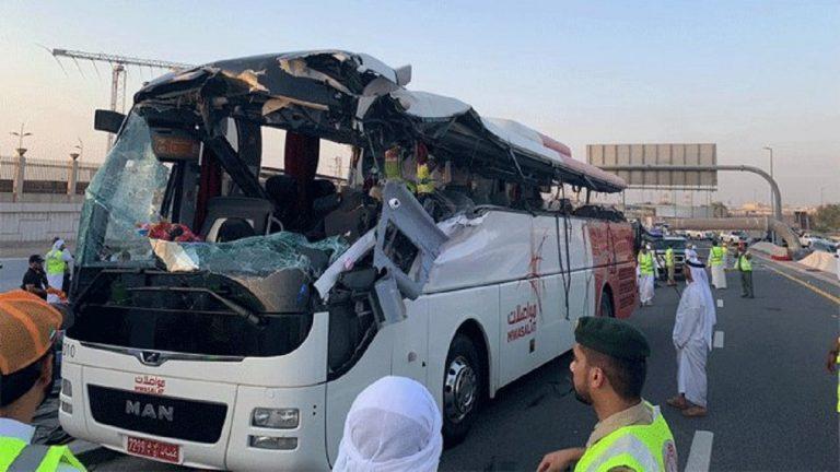Bus crashes into road sign in Dubai, killing 17