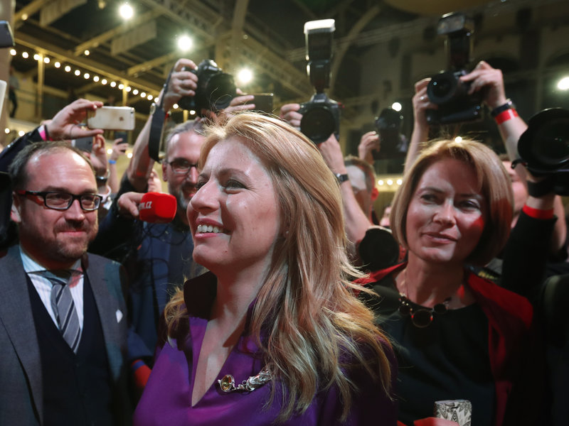 Slovakia's first female president, Zuzana Caputova, takes office