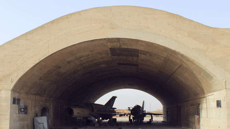 Explosion at airbase in central Syria results in casualties