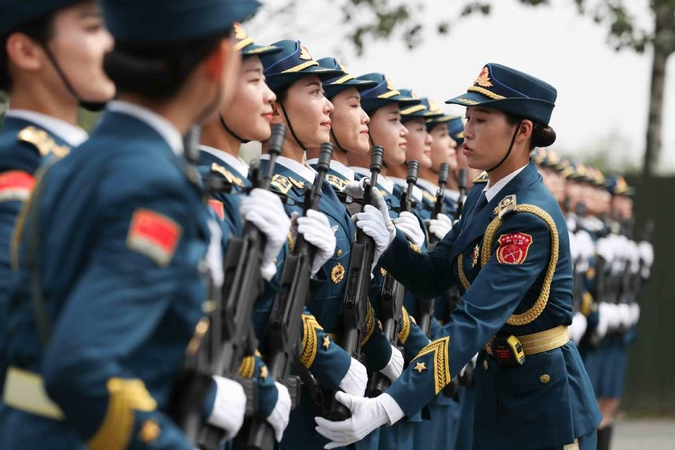 china's military might on show at 70th-anniversary parade