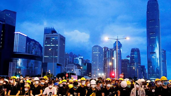 Police disperse Hong Kong rally with tear gas, water cannon
