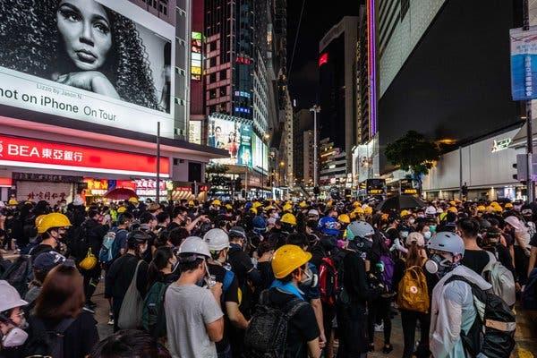 Hong Kong strike devolves into violence after protester is shot
