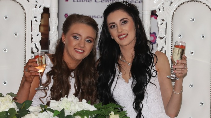 'This is my wife!' Women celebrate N Ireland's first gay marriage