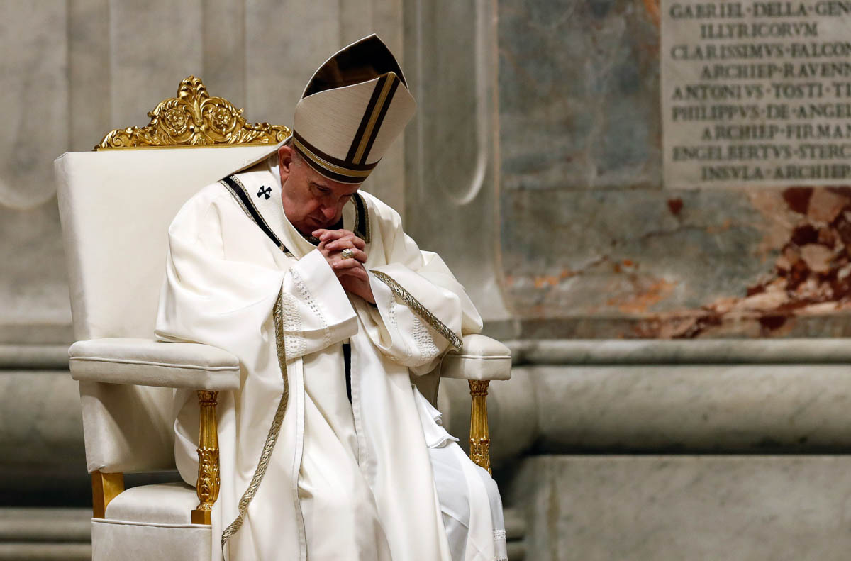 Pope Francis to celebrate Easter Mass in empty St Peter's Basilica