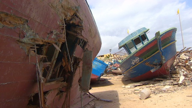 Old migrant boats set on fire in Italy's Lampedusa